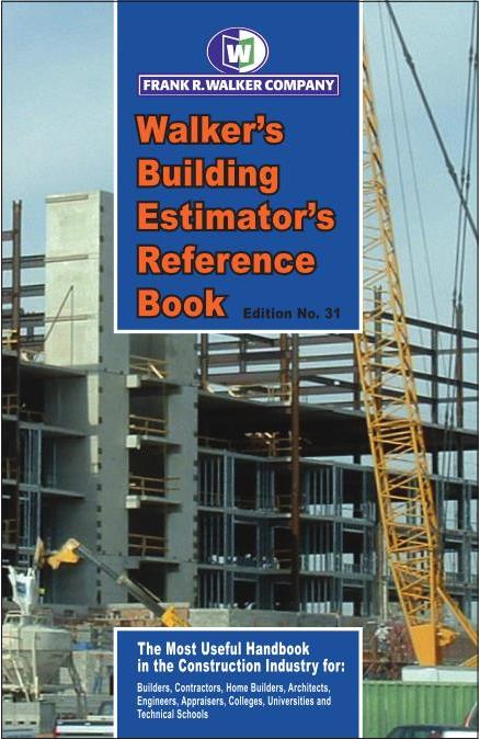 Frank R Walker - The Building Estimator's Reference Book BERB 31